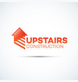 upstairs construction logo vector image