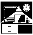 workplace black and white vector image