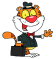 Happy Salesman Tiger vector image vector image