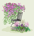 Blooming paradise vector image vector image