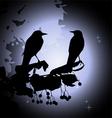 Birds on a branch vector image vector image