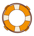 Aged flotation hoop with rope vector image