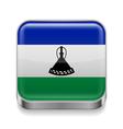 Metal icon of Lesotho vector image vector image