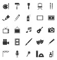 Art icons on white background vector image