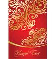 elegant red background vector image vector image
