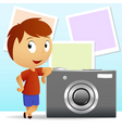 cartoon photographe vector image vector image