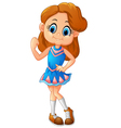 cute cheerleader posing vector image