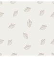 Hand Drawn Leaf Seamless Pattern vector image