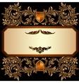 Vintage frame with heraldic detailed golden floral vector image vector image