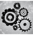 Abstract grunge background with gears vector image