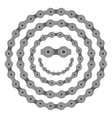 bicycle smile sun chain part vector image