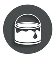 Bucket of paint icon Painting works sign vector image
