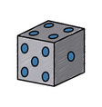 chance lucky dice vector image