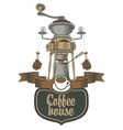 coffee grinder and beans vector image
