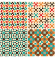 set retro seamless geometric patterns vector image