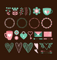 valentines day cute set vector image