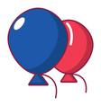 wedding ballons icon cartoon style vector image