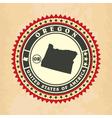 Vintage label-sticker cards of Oregon vector image