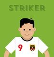 Striker vector image vector image