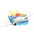 A summer template with a plane vector image