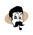 pipe smoker guy vector image