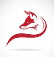 image of an fox head vector image
