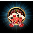 Casino Composition with Roulette Wheel vector image