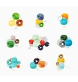 Collection of circle web boxes vector image vector image