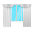 Window curtains White curtans and windows vector image
