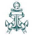 ancient anchor vector image