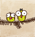 Birds on a Branch Cartoon vector image