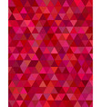 Dark red triangle mosaic background vector image