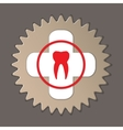 Dentist stomatologist logo label icon Medical vector image