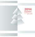 Happy New Year Christmas Tree vector image