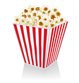 Popcorn in a box vector image