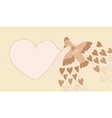 Vintage bird and heart vector image