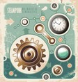 Vintage industrial info graphic vector image