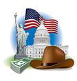 usa landmarks and symbols vector image vector image