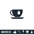 Tea icon flat vector image