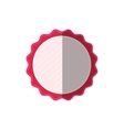 pink frame badge ornament shadow vector image
