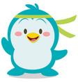 cute penguin character art vector image