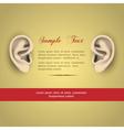 Human ears vector image