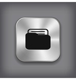 Folder icon - metal app button vector image vector image