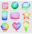 Transparent multicolored glass shapes vector image vector image