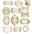 Vintage labels set vector image