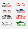 Cars Logos and Badges vector image