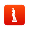 ancient statue icon digital red vector image