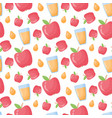 apple juice flat style seamless pattern vector image
