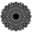 black round ornament vector image