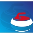 Curling stones on a blue background vector image